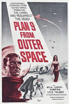 """Plan 9 from Outer Space movie poster   Illustrator: Unknown   20""""x30"""" poster 89.00"""