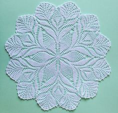 White cotton lace doily hand crochet table clothes by fancyloopslj