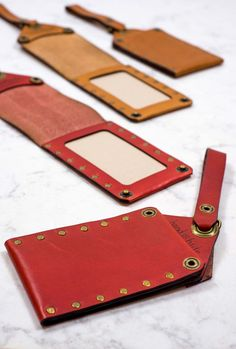 Perfect for a lifetime of adventuring. Italian leather luggage tags hand crafted in Portland, Oregon, USA.