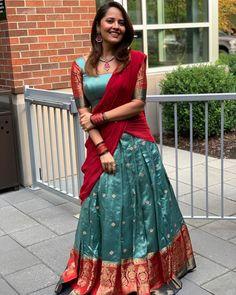 ✅ Anasuya Bharadwaj Beautiful Hot Photoshoot Photos in HD Lehenga Saree Design, Half Saree Lehenga, Saree Gown, Lehenga Designs, Lehenga Skirt, Indian Lehenga, Half Saree Designs, Saree Blouse Neck Designs, Indian Designer Outfits