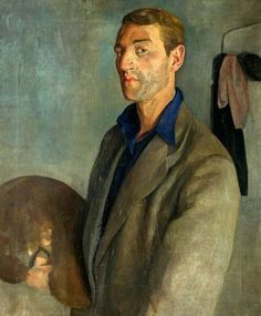 GilbertMason (Welsh, 1913-1972) Self portrait Oil on canvas (60 x 50 cm)and  Newport Museum and Art  Gallery, Gwent.