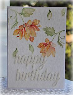 Water colouring Altenew stamp