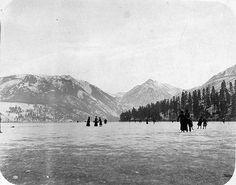 Skating on Lake Chelan, Washington State, US, c.1900. Thought this was pretty cool!