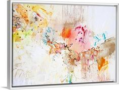 "Contemporary abstract artwork with a watercolor design that uses warmer tones - ""White Series 4"" wall art by Jennifer Gardner from Great BIG Canvas"