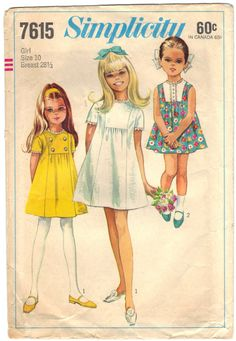 Pattern For Child's and Girls' Dress  Size 10  Breast by BearyAmazingEmporium, $9.00