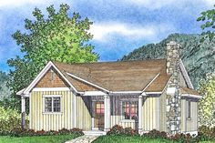 How cute is this cottage style house design? Check out the adorable front porch! Use code GETSOCIAL for 10% off your house plan (some exclusions apply). Questions? Call 1-888-447-1946 today. #architect #architecture #buildingdesign #homedesign #residence #homesweethome #dreamhome #newhome #newhouse #foreverhome #interiors #archdaily #modern #farmhouse #house #lifestyle #design #buildersareessential Cottage Style House Plans, Cottage Style Homes, Country Style Homes, Cottage Design, House Design, Vertical Siding, Building Department, Cute N Country, Building Design