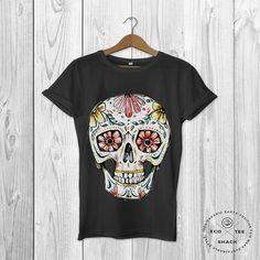 Sugar skull graphic tee Day of the dead tshirt Fairtrade