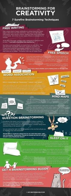 Brainstorming for creativity Infographics