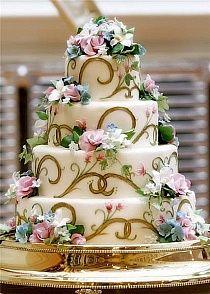 Um bolo lindo para tema Flores
