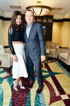 Priyanka Chopra is seen with Hollywood actor Kevin Spacey at #IIFA Awards 2014.