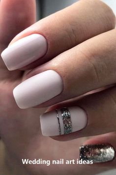 30 Perfect Bridal Nails Art Designs Whichever type of bride you are. If you are still searching for the perfect bridal nails design, pull totally fresh inspiration from our wedding gallery. Natural Wedding Nails, Simple Wedding Nails, Natural Gel Nails, Bridal Nails Designs, Bridal Nail Art, Wedding Nails Design, Wedding Nails Art, White Nail Designs, Gel Nail Designs