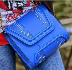 MINI GIOVANNA Denim with Metalic Studs & Leather   #YYMiniGiovanna