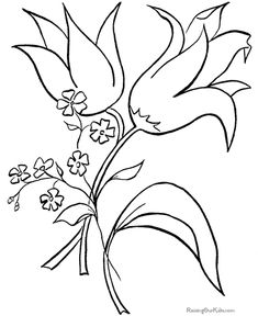 Flower Coloring In Pictures : Flowers Coloring Pages With Butterfly. Flowers Coloring Pages Pics. Flower Coloring In Pictures. Easter Coloring Sheets, Easter Bunny Colouring, Bunny Coloring Pages, Spring Coloring Pages, Coloring Pages For Kids, Coloring Books, Printable Flower Coloring Pages, Printable Coloring Sheets, Flower Colouring In