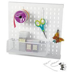 Recollections™ Metal Slat Wall Set Craft Room Storage and Organization