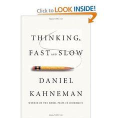 Thinking Fast And Slow - Kahneman    Düşünme nasıl olur? Hızlı düşünme yavaş düşünme nasıl işler..     Alanın ileri gelen bilim adamından derli toplu bir çalışma. Henüz bitirmedim gerçi.