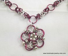 Byzantine Flower Chain Maille Necklace Tutorial