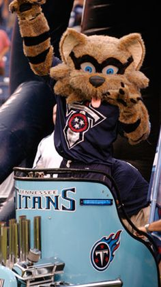 T-Rac the Raccoon is the mascot for the Tennessee Titans. He was chosen because the raccoon is the state animal of Tennessee.