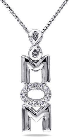 1776890dc FINE JEWELRY Womens Diamond Accent Genuine White Diamond Sterling Silver Pendant  Necklace Infinity Pendant, Circle