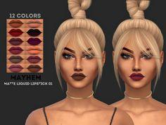 Matte Lipstick by MayhemSims via MySims4blog.