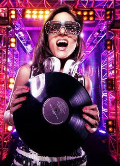 Female DJ prepping her vinyl for the turntable. #DJ #vinyl #djculture #records http://www.pinterest.com/TheHitman14/dj-culture-vinyl-fantasy/