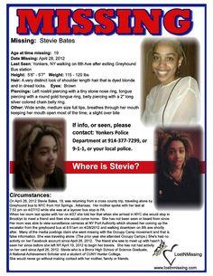 Stevie Bates 19 MISSING - Yonkers NY - April 28 2012