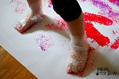 toddler painting-Great gross motor activity