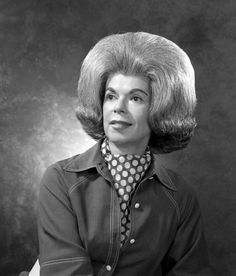 Example of extreme hair teasing. 1960s