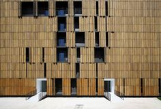 A facade of bamboo is the hallmark of this emblematic sustainable and ecological building in Carabanchel. Bamboo Architecture, Bamboo House, Social Housing, Rooftop Bar, Building, Furniture, Design, Home Decor, Nova