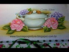 pintura em pano de prato chaleira - Pesquisa Google