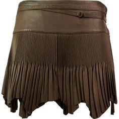 JEAN PAUL GAULTIER Brown Leather Skirt