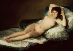 F. de Goya: La maja desnuda y La maja vestida. Museo del Prado. Hacia 1800. – Artecreha