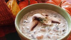 CREAMY MUSHROOM SOUP This fresh and creamy soup is easy to make, and filled with hearty chopped mushrooms.