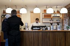 Tim Wendelboe is a coffee roastery, an espresso bar and a coffee resource and training centre located in Grünersgate Oslo, Norway Best Coffee Roasters, Coffee Cafe, Coffee Shops, Home Coffee Machines, Espresso Bar, Cafe Style, Coffee Colour, Coffee Branding, Shop Interiors