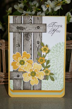Cards on the table with Vicki: Another Spring inspired card.