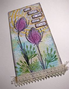 Tag Art, Mixed Media, Doodles, Artsy, Challenges, Journalling, My Favorite Things, Create, Flowers