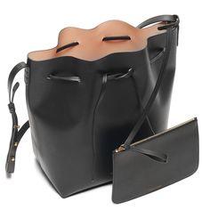 Black Bucket Bag. Black Leather HandbagsVegetable ... ecc9cf6b6b4a8