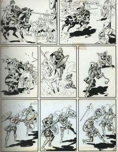 "Original art for ""Trial by Arms"" in Two-Fisted Tales #34, Jul-Aug 1953 by Wally Wood."