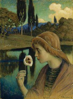 "la-belle-epoche: ""Väinö Blomstedt (Finnish, 1871-1947) Francesca, 1897 Tempera on canvas Ateneum Art Museum, Helsinki """