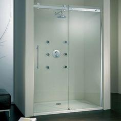 Porte de douche coulissante sur pinterest porte de - Porte coulissante 73 cm castorama ...