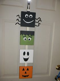 For Halloween decorations to go up? I made this, I saw an idea similar to it on Pintrest . I really really want to hang this on our door n. Theme Halloween, Halloween Arts And Crafts, Halloween Canvas, Halloween Painting, Halloween Photos, Diy Halloween Decorations, Holidays Halloween, Holiday Crafts, Happy Halloween