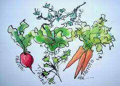 Sketchbook Wandering: Vegetables for Sale