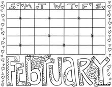 free printable calendar coloring pages - February Coloring Pages Printable