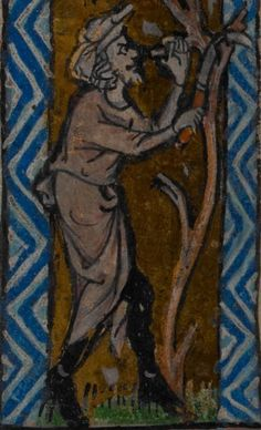Detail from medieval manuscript, British Library Stowe MS 17 'The Maastricht Hours' f3v