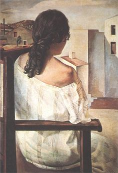 Page: Seated Girl Seen from the Back  Artist: Salvador Dali  Completion Date: 1928  Style: Surrealism  Genre: portrait  Technique: oil  Material: canvas  Dimensions: 104 x 74 cm  Gallery: Museo Nacional Centro de Arte Reina Sofia, Madrid, Spain