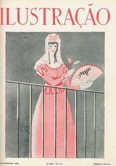 Capa da Ilustração nº 316, de 16 de Fevereiro de 1939. Ilustração do pintor José de Almada Negreiros