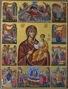 Αννα Τζεκου Famous Freemasons, Blessed Virgin Mary, Art Icon, Orthodox Icons, Christian Art, Religious Art, Saints, Spirituality, Baseball Cards
