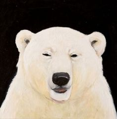 Polar Bear Squinting by Joyce Koskenmaki