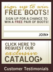 Win a Free Pair of Boots or a $200 Timsboots.com Gift Certificate in our Monthly Drawing! - Tims Boots Extras
