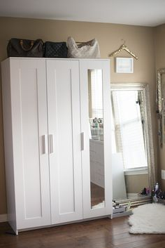 Looking to spruce up a bedroom and make it into your own special little space? These are some of my favorite IKEA hacks for a DIY closet room on a budget.