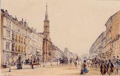 The Jägerzeile in Vienna by Rudolf von Alt, 1844
